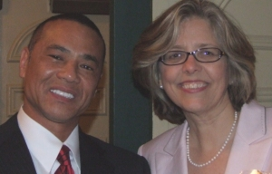 Glenn Blackmon, owner of Detail Construction, and TASC Executive Vice President Pam Rodriguez