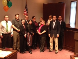 The Sangamon County drug court team - including TASC and county staff, as well as treatment providers - celebrated the county's fourth drug court graduation with a guest appearance by Congressman Rodney Davis (R-IL13).