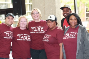 Members of TASC team at GSU Recovery Walk: (left to right) Ryan Dillon, Debra Hammer, Lindsey Baumgartner, Cassy Lamon, Charles Sanders, and Latina McMillan.
