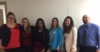 2016 ICBHTC Intern Class (left to right): Amanda Auerbach, Jessica Garner, Cassandra Simmons, Jennifer Chmura, Delilah Portalatin, Anthony Barlog. Not pictured: Rebecca Gonzalez.