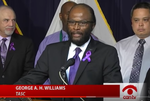 George A. H. Williams, TASC vice president of community and government affairs.