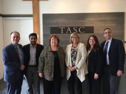 Sept. 14-16, 2016: TASC and partners welcomed guests from international agencies for a three-day site visit focused on diversion initiatives, jail interventions, and sentencing alternatives in Cook and Lake counties. Left to right: Antonio Lomba, Organization of American States; Chritharth Palli, India judiciary; Melody M Heaps, MMH & Associates; Pamela F. Rodriguez, TASC; Charlotte Sisson, U.S. State Dept.; Richard Baum, White House Office of National Drug Control Policy